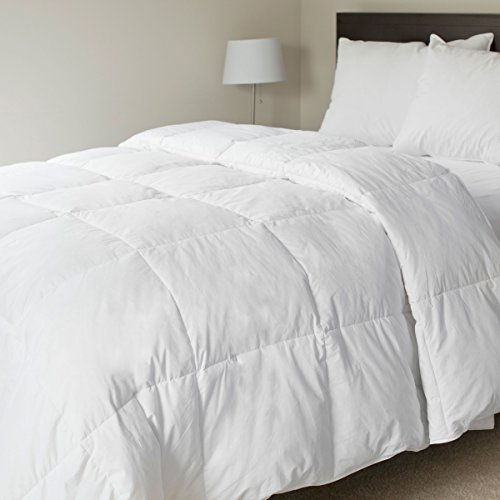 Lavish Home 100-Percent Cotton Feather Down Bedding Comforter, Twin front-723047