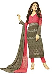 Zbuy Mahendi Georgette Embeoidered Unstitched Salwar Suit Dress Material