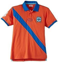 US Polo Association Boys Orange Polo Shirt (