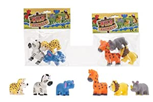 Cosas 728043 - Bolsa 3 Animales Selva 8 Cm