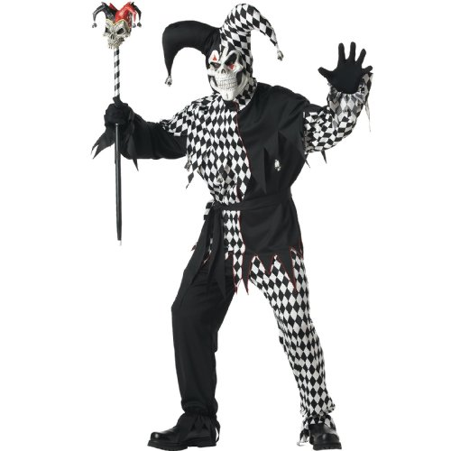 Lets Party By California Costumes Evil Jester Adult / Black - Size X-Large