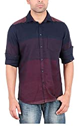 EASIES Men's Casual Shirt (81478 VARICK E702UASFFSSC STRMRNNV_M, Multi-Coloured, Medium)