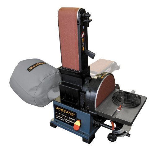 "POWERTEC BD4800 4 "" x 8 "" Belt Disc Sander w/ Built-in Dust Collection"