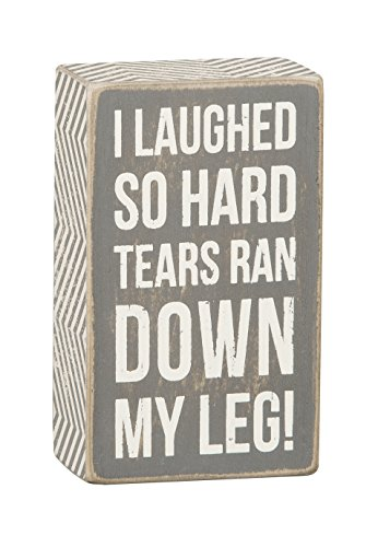 Primitives by Kathy Gray Box Sign, 5-Inch by 3-Inch, Tears Ran Down