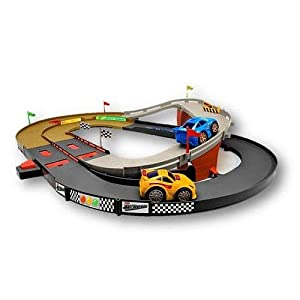 Fisher Price Shake 'n Go Raceway Race Track and 2 Cars