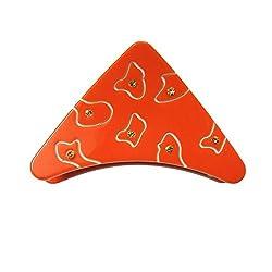 Designer Kart Women's Hair Clip (DK1540HC11O_Orange_Free Size)