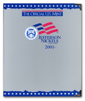 US Mint / Coin Album Jefferson Nickels, 2001-2007 - By Whitman