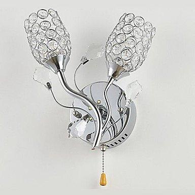 cristal chic, a menšŠ la lumiššre de mur avec dšŠcoration florale 220-240v