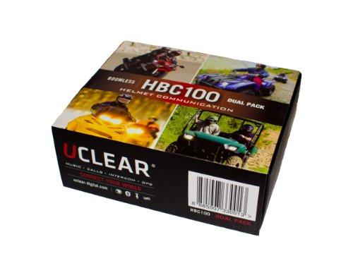 Uclear Hbc100D Dual Sports Helmet Communicator Bluetooth Headset