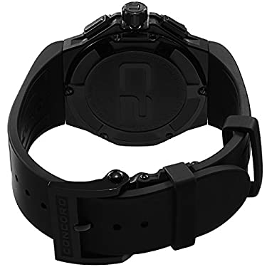 Concord C2 Automatic Chronogrph Men's Black Rubber Strap Swiss Made Watch 0320191