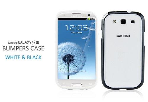 【ASAP】Docomo+Samsung+Galaxy+S+III+バンパーケース+SC-06D+ギャラクシーS3用バンパー+ブラック+&ホワイト+液晶保護フィルムオマケ付!!+i9300バンパーケース+Galaxy+S3+%2F+SC-06D+Bumper+Case