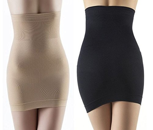 Slimming Body Shapers Seamless Corset Hip Waist Trainer Cincher Shapewear Skirt (Black, M)