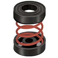 "Mason IMF-X-33 Steel Non Adjustable Spring Mount Vibration Isolator, 33lbs Capacity, 1.1"" Deflection, 30lbs/in Spring Constant, Red"