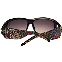 Ed Hardy Snake and Roses Sunglasses EHS046 - Black