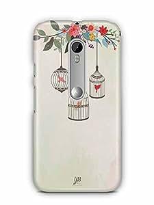 YuBingo Birds in Cage Designer Mobile Case Back Cover for Motorola G3