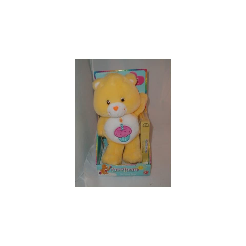 Care Bears Plush Birthday Bear with VHS Video Tape
