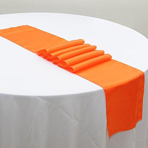 Awardpedia ourwarm orange satin table runner 12 x 108 for 108 inch table runners