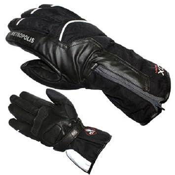 Gants moto ADX METROPOLIS - Hiver - Textile / Cuir - Noir