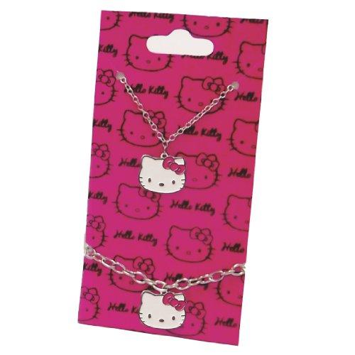 'Blush'originale Hello Kitty Sanrio-Set di collana e bracciale con ciondolo
