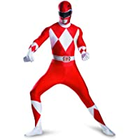 Red Ranger Deluxe Bodysuit Adult Costume