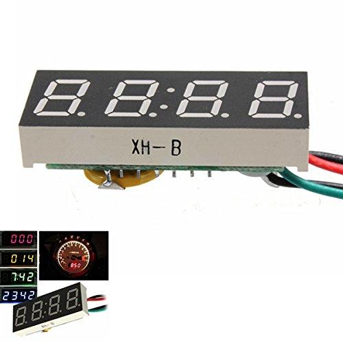 DC 7-30V Digital LED Clock per Car Truck Motocicletta Motor 24 Hour Time