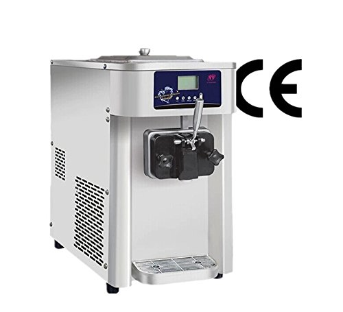 Commercial Soft Ice Cream Machine, Soft Ice Cream Maker, Frozen Yogurt Machine for Home or Small Business