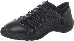 Capezio Snakespine Dance Sneaker,Black,6.5 M US