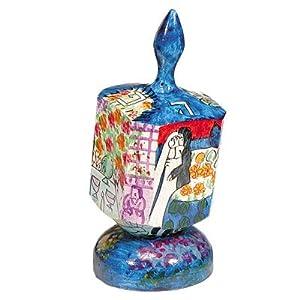 Dreidel Hanukkah Gifts Ornament Game - Yair Emanuel LARGE WOODEN