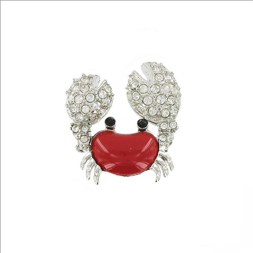 Crab Design with Crystal Stone Pin #035047