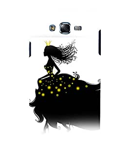 printtech Beautiful Girl Floral Abstract Back Case Cover for Samsung Galaxy Grand Prime G530h