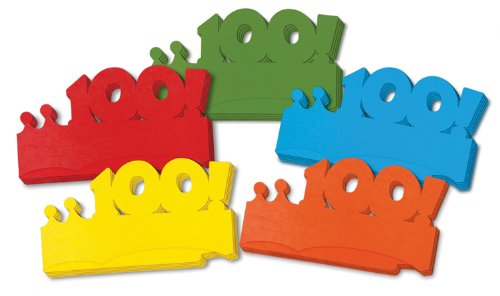 Chenille Kraft 100 Days Paper Crowns, 5 Colors, 25-Piece - 1