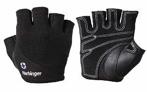Harbinger 154 Power Women's StretchBack Gloves (Black, X-Small)