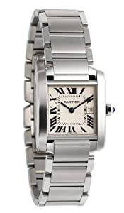 Cartier Midsize W51011Q3 Tank Francaise Stainless Steel Watch from Cartier
