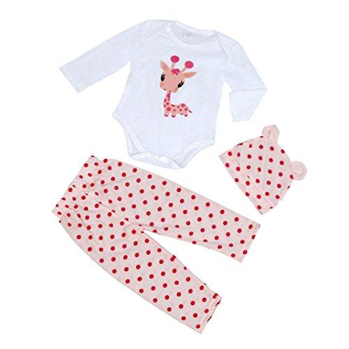 Culater® Neonate Newborn Hat pagliaccetto pantaloni Outfit Set (80)