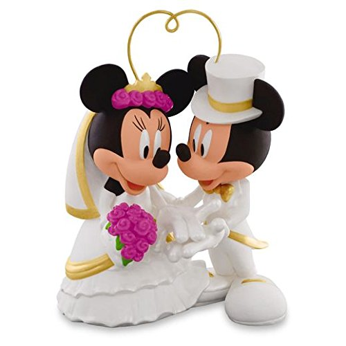 Hallmark Keepsake 2016 I Do Times Two Mickey & Minnie Porcelain Wedding Ornament
