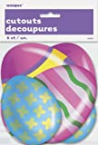 Paper Cut Out Bright Easter Egg Decorations, 6ct