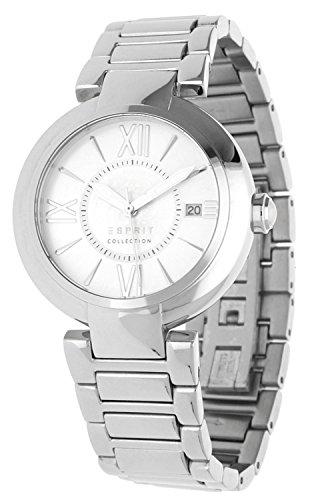 Esprit  ALETHEIA - Reloj de cuarzo para mujer, con correa de acero inoxidable, color plateado