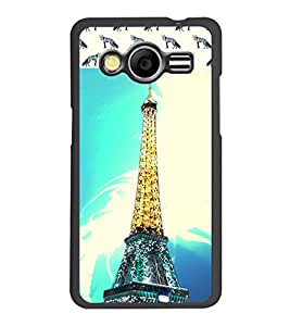 PrintDhaba Tower D-6064 Back Case Cover for SAMSUNG GALAXY CORE 2 G355H (Multi-Coloured)