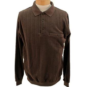 Safe Harbor Allover Long Sleeve Banded Bottom Shirt Xx