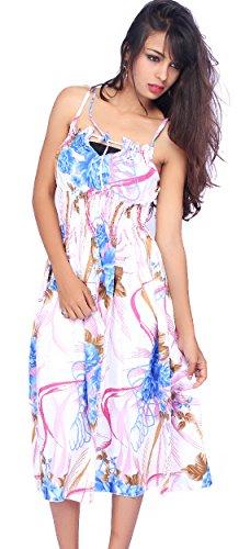 SUNROSE Multicolor Allover Printed Halter Backless Tube Dress