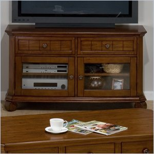 Cheap Jofran Jofran Killarny TV Stand with Tempered Glass in Cherry (039-9)
