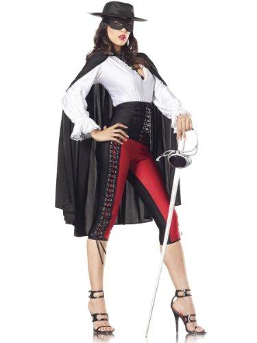 Costume Adventure Women's Deluxe Sexy Zorro Costume -S/M (Mask Of Zorro Sword)