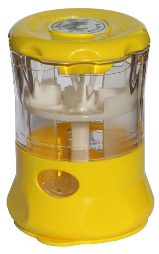 Fresh Mill Herb Storage Canister and Mill, Yellow