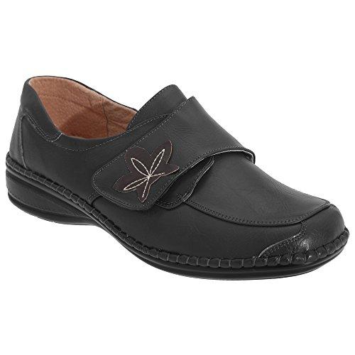 boulevard-scarpe-larghe-con-chiusura-a-strappo-donna-39-eur-nero