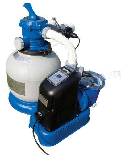 Above Ground Intex 1600 Gph Filter Swimming Pump And Salt