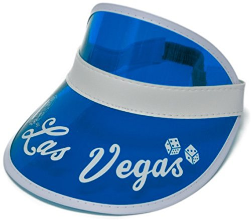 Blue Las Vegas Dealer Visor Hat Fear And Loathing In Bingo Casino Raoul Duke