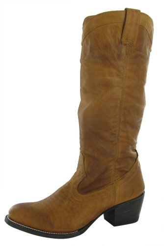 STETSON Western Womens Leather Lined Boots Brown Size 8