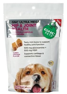 GNC Pets Ultra Mega Hip & Joint Health Mini Bones for Dogs, 11.2oz