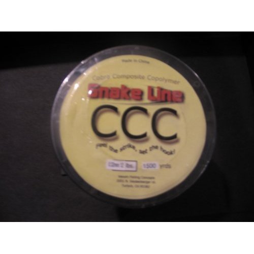 Snake Line 5 Component Copolymer 1500 Yard Spool 8lb .25mm Diameter