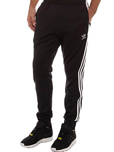 adidas Originals Men's Superstar Cuffed Track Pant, X-Large, Black